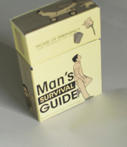 The packaging for Man's Survival Guide to Marriage