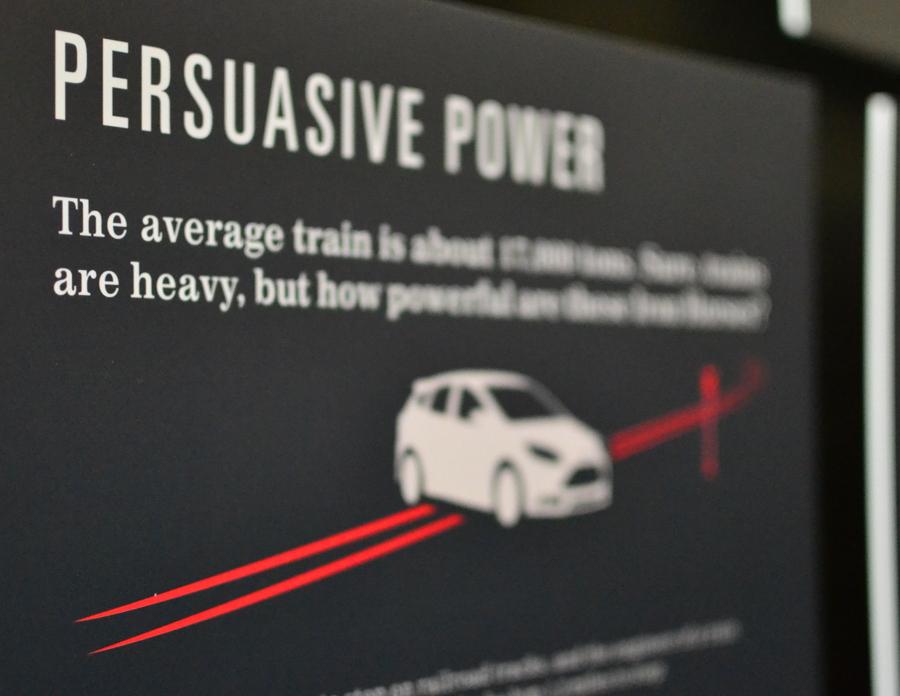 The crushability of a train vs car scenario.