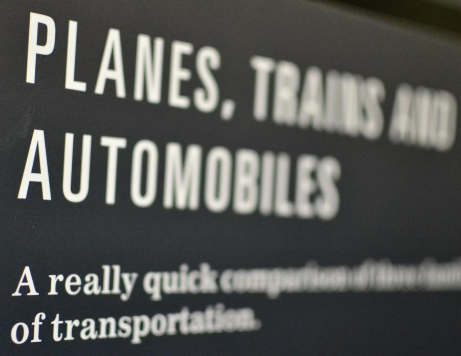 Quick comparison of planes trains and automobiles